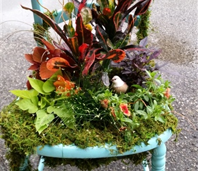 vintage chair as planter